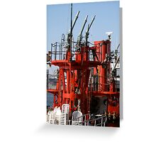 Fire Boat, Hudson River Greeting Card