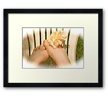 Play footsies with me Framed Print
