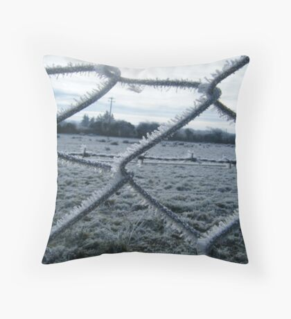 Through the chicken wire... Throw Pillow