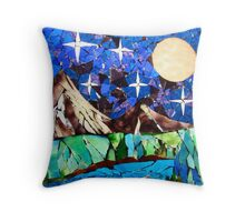 Bright Lights in the Sky Throw Pillow