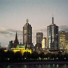 19961120 Melbourne Skyline by Fred Mitchell