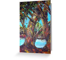 original oil painting  Greeting Card