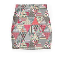 London triangle quilt Mini Skirt