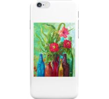 Antique Bottles and Flowers iPhone Case/Skin
