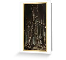 Comus Illustrated by Arthur Rackham 1921 0095 In The Wood Greeting Card