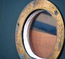 A port hole reflection. by tmtphotography