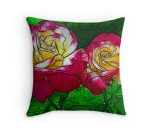 Rose Lovers - Hard Sketch Throw Pillow