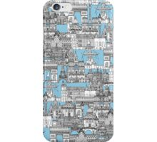 Paris toile cornflower blue iPhone Case/Skin