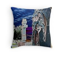 Nightmare Over Graves Throw Pillow