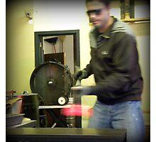 Glass blower. Photographic Print