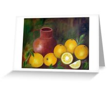Still Life, Oil Painting Greeting Card