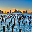 Pier Pilings on the Hudson River--HDR by Dave Bledsoe