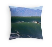 Paddling Out For The Next Wave Throw Pillow