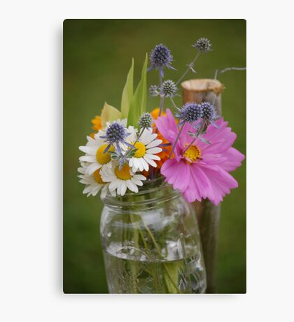 wild flower wedding Canvas Print