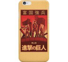 Attack on Titan Propaganda Poster iPhone Case/Skin