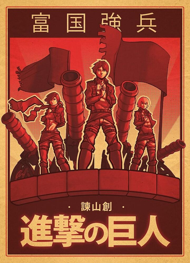 Attack on Titan Propaganda Poster by Jon-west