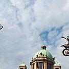 Motocross in the center of Belgrade by Aleksandra Misic