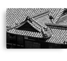 Dogo Onsen Roof Canvas Print