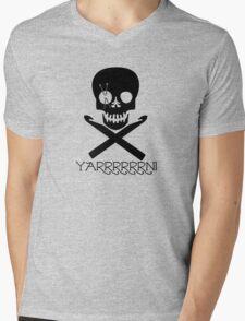 Skull and Hooks Mens V-Neck T-Shirt