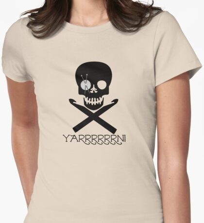 Skull and Hooks Womens Fitted T-Shirt