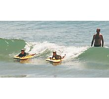 How to surf by Dad Photographic Print