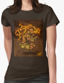 Dhalsim 25 Womens Fitted T-Shirt