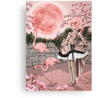 Flamingo Fairy - Pink Moon Canvas Print