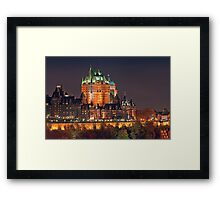 Night View of Le Chateau Frontenac (Version 2), Quebec City Framed Print