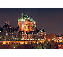 Night View of Le Chateau Frontenac (Version 2), Quebec City Photographic Print