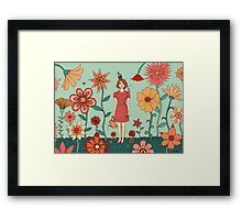 Welcome to my garden Framed Print