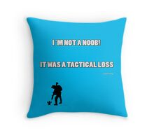 TACTICAL LOSS - Blue Throw Pillow