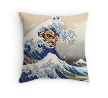 The Great Cookies off Kanagawa Throw Pillow