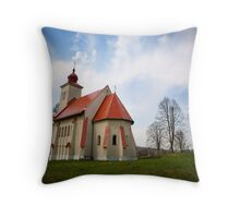 The Church with all the History Throw Pillow