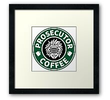 Prosecutor Coffee Framed Print
