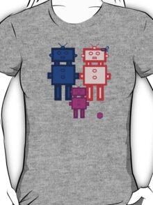 Retro robot family T-Shirt