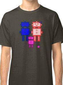 Retro robot family Classic T-Shirt