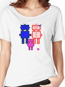 Retro robot family Women's Relaxed Fit T-Shirt