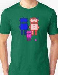 Retro robot family Unisex T-Shirt