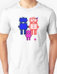 Retro robot family Unisex T-Shirt