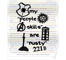 """My """"People Skills"""" are """"Rusty"""" Poster"""