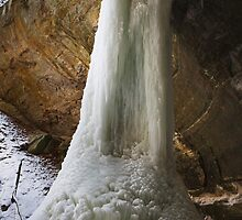 Ottawa Canyon Frozen Waterfall by Adam Bykowski