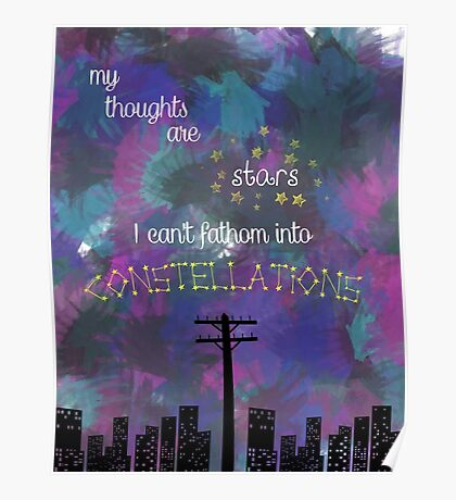 My Thoughts are Stars - from TFIOS Poster