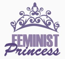 Feminist Purple Princess Kids Tee