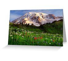 Rainier Wildflowers Greeting Card