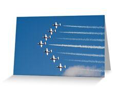 The Snowbirds Flying V Formation Greeting Card