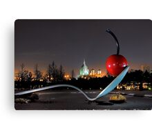 Saint Marys Basilica through the Spoonbridge Canvas Print