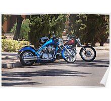 Harley Motor Bikes  Poster