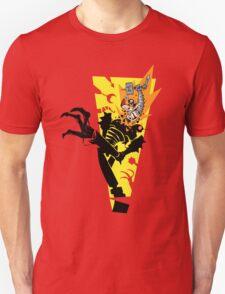 """Tankfist Steelhammer in """"Die Robot DIE!"""" Unisex T-Shirt"""