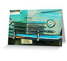 Plymouth 1946 Greeting Card