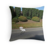 8 Bit Goat, In a High-Def World Throw Pillow
